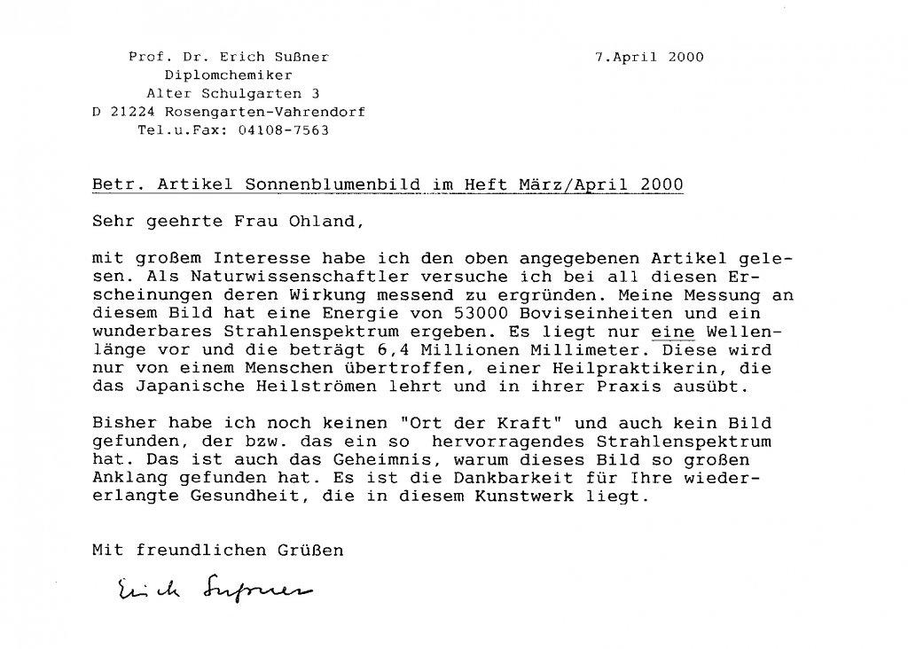Brief Prof. Sußner